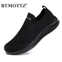Zapatos de malla ligeros para hombre, zapatillas informales a la moda y transpirables, para caminar, mocasines