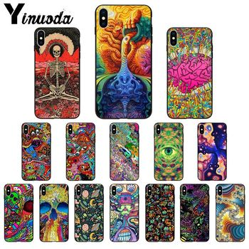 Yinuoda Psychedelic Trippy Art High Quality Phone Case for iPhone 11 pro XS MAX 8 7 6 6S Plus X 5 5S SE XR SE2020 image