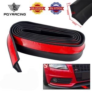 Image 1 - 2.5M Car Bumper Lip Stickers Car Front Bumper Lip Rubber Car Bumper Protectors Exterior Mouldings Bumper Lip Strip 65mm Width