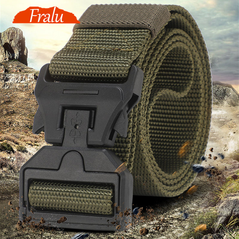 Tactical Belt New Nylon Army Belt Men Molle Military SWAT Combat Belts Knock Off Emergency Survival Belt Tactical Gear Dropship3