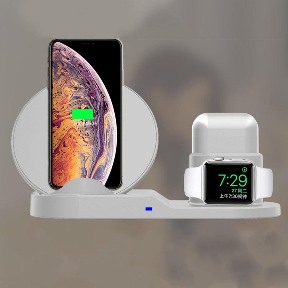 Chargeur sans fil 3 en 1 support de charge sans fil pour Apple Watch Airpods pour iPhone X Xs chargeur sans fil rapide Dock