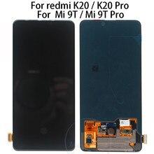 Original 6.39 Para Xiao mi Vermelho K20 LCD Screen Display Toque Digitador Assembléia Para Xiao mi mi mi 9 T mi K20 pro display lcd Vermelho