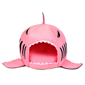 Image 5 - Caseta de CAWAYI cama de Casa de perro para mascotas, diseño de tiburón, para perros y gatos, productos de animales pequeños, cama de perro hondenmand, panier chien legowisko dla psa