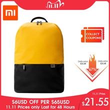 Original Xiaomi Simple Casual Backpack Large Capacity Travel Backpack Waterproof 15.6 inch Laptop  ice feeling fabric