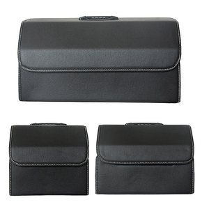 Image 4 - Car Storage Bag PU Leather Trunk Folding Car Storage Stowing Tidying Auto Trunk Box Organizer Car Accessories