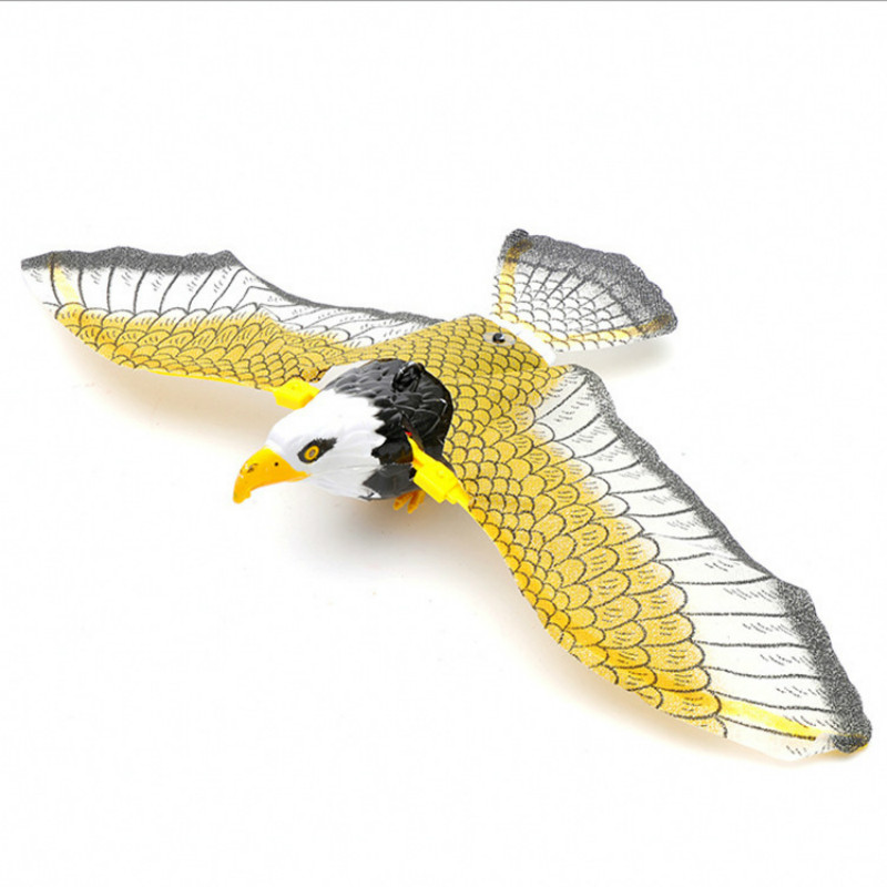 Hot Selling Electric Plastic Flying Eagle Toy Rotation Hanging Eagle Electric Ornaments Toy Display Simulated For Children Gifts