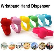 Bracelet Sanitizer-Dispenser Pump Wristband Liquid Hand-Washing Silicone with 1PC 10ML