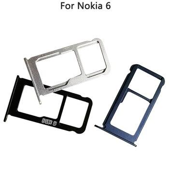 10PCS New Nokia 6 Sim Card Slot Tray For Nokia 6 TA-1000 TA-1003 SIM Tray Sim Card Holder Slot