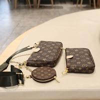2020new high quality fashion women handbag leather hardware chain shoulder bag Brand Favorite Handbag Three in one underarm