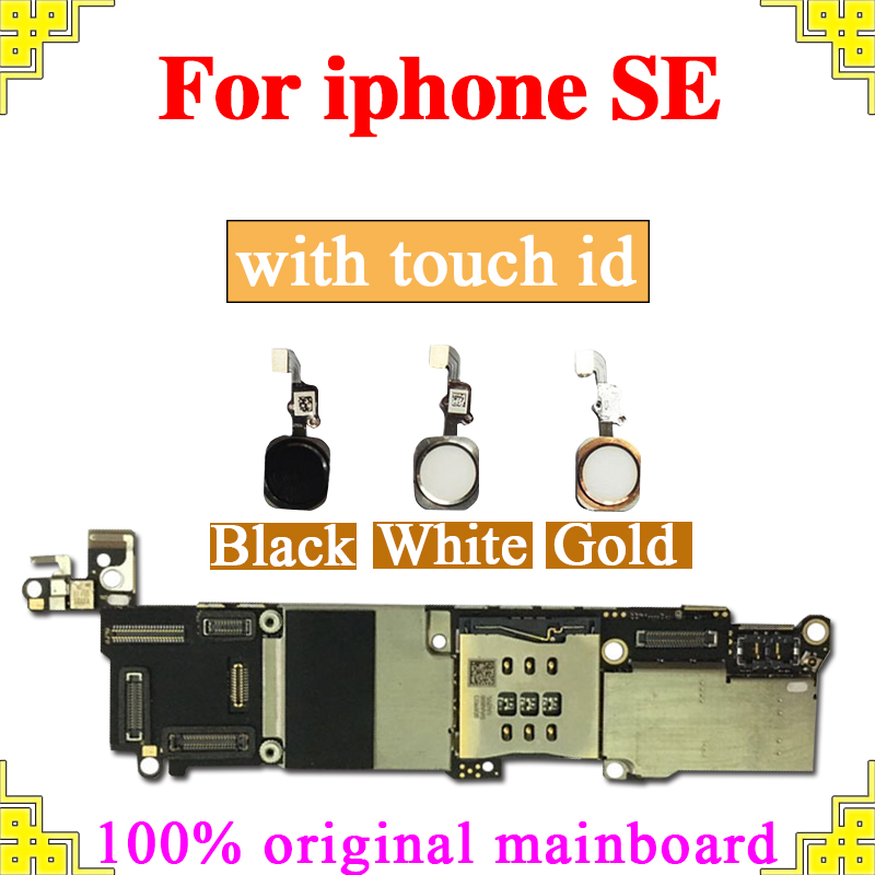 16gb 32gb 64gb for iPhone 5SE Motherboard with Touch ID Without Touch ID 100 Original unlocked for iphone SE Mainboard Plate in Mobile Phone Antenna from Cellphones Telecommunications