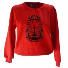 Funny Egyptian Pharaoh Graphic Print Women Ladies Sweatshirt Fashion Graphic Sweatshirt Casual Long Sleeve Street Wear Pullover graphic smile face embroidered sweatshirt