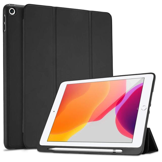 """Fall für iPad 10,2 2019 Neue Tablet,Generation 10.2 """", weiche TPU Zurück Schutzhülle Smart Fall mit Auto Wake/Sleep & Bleistift Halter"""