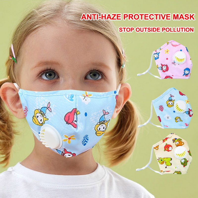 1Pc PM2.5 Children Mouth Mask For Kids Cartoon Thicken Smog Mask Warm Dust Mask Facial Protective Covers Mouth Caps