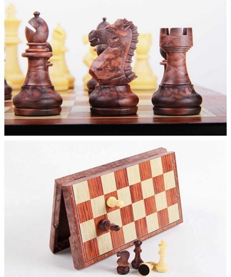 4 Size Magnetic Board Tournament Travel Portable Chess Set New Chess Folded Board International Magnetic Chess Set playing Gift 3