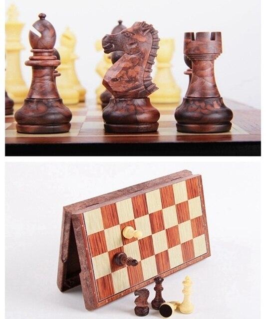 Ensemble de tournoi magnétique, tableau magnétique, 4 tailles, échecs portables internationaux pliants, cadeau de voyage 4