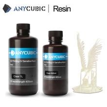 Resina de cura uv rápida de sla para a impressão 500 ml/1l do lcd 3d resina 405nm universal da impressora de anycúbico 3d para o fóton s