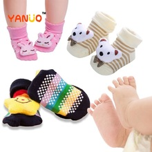 Toddler Socks Baby-Accessories Anti-Slip 3d-Design Baby-Girl Animal Cute Fashion Middle-Tube