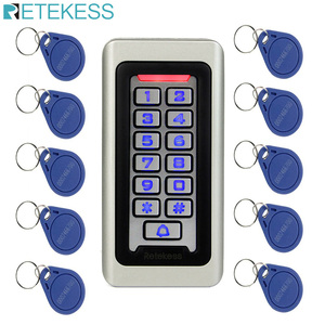 Image 1 - RETEKESS Access Control Keypad System RFID Door 125KHz 1 Access Control Keypad + 10 RFID Keyfobs Cards With 2000 Users F9501D