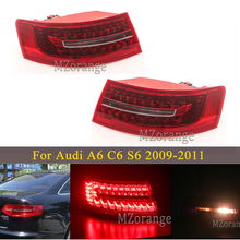 MIZIAUTO مصباح خلفي للسيارة ، مصباح خلفي LED خارجي لأودي A6 C6 S6 Quattro RS6 ، صالون سيدان 2009 2011 ، ضوء الفرامل الخلفي ، ملحقات السيارة