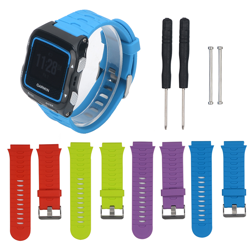 Strap For Garmin Forerunner 920XT Soft Silicone Strap Replacement Band Bracelet With Steel Stainless Buckle Wristband Watchstrap