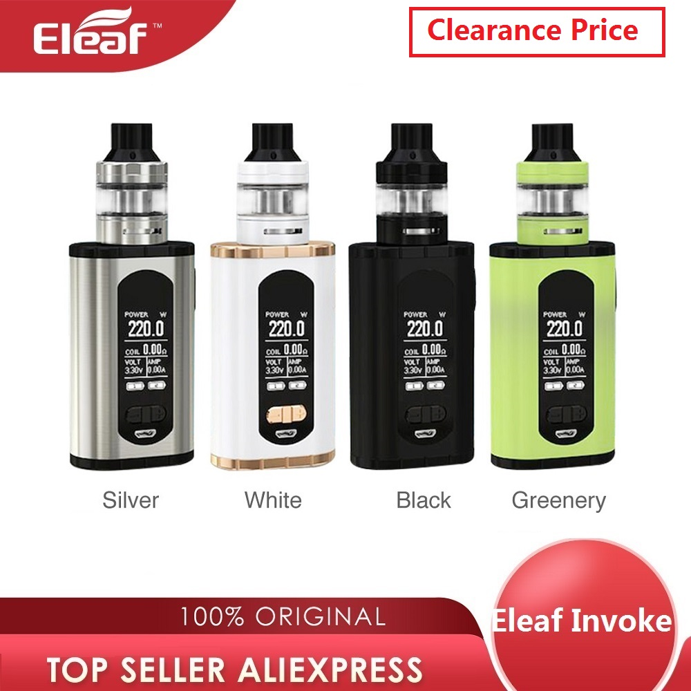 Hot Original Eleaf Invoke 220W TC Box MOD Vs Eleaf Invoke Kit Max 220W No 18650 Battery Box Mod Vape Vaporizer Vs Drag 2/ Shogun