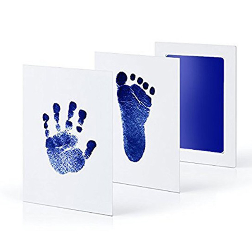 High Quality Baby Non-Toxic Handprint Footprint Imprint Kit Baby Souvenirs Casting Newborn Hand Ink Pad Toddle Birthday Gifts