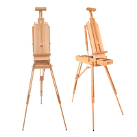 Portable Folding Durable French Table Easel Wooden Stand for Drawing Oil Paints Sketch Box Tripod Painting Easel for The Artist