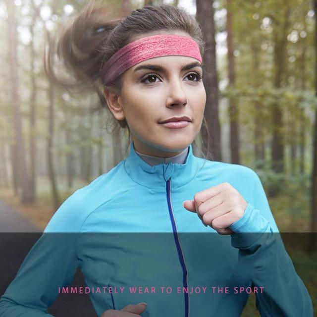Fitness yoga hair bands jogging running sports sweat-absorbent belt silicone non-slip antiperspirant headband sports scarf belts 3
