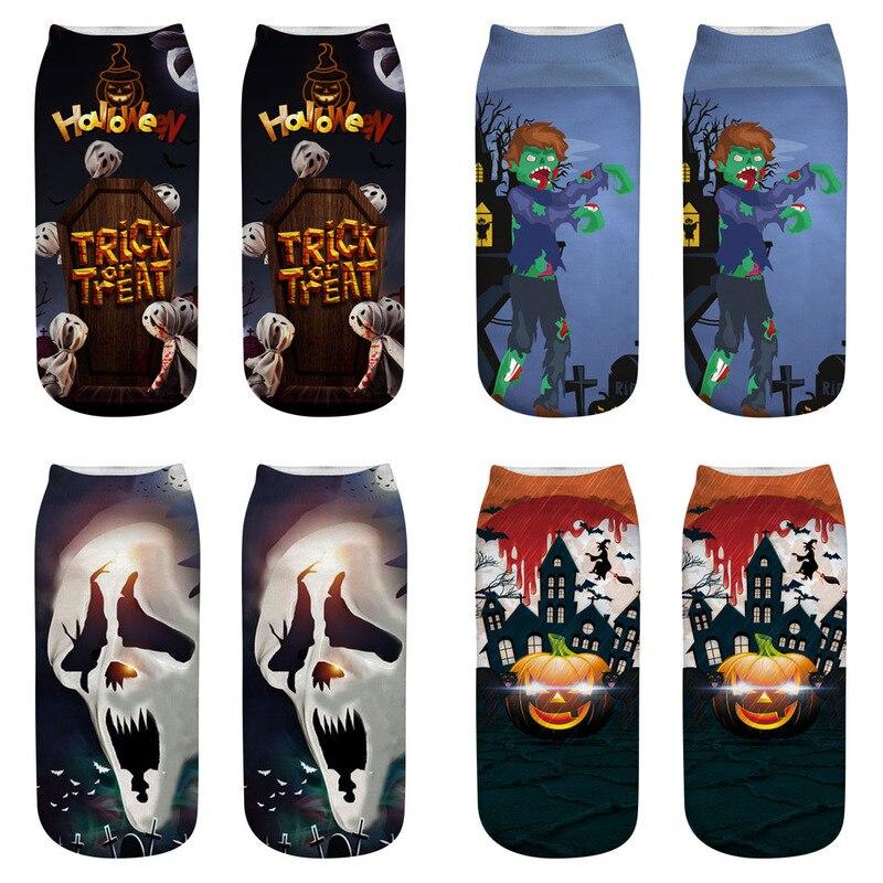 Bendy 3 pares de meninas Halloween horror cosplay moda curto meias de algodão presentes de Natal quente meias casuais meias meias adultos