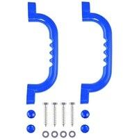 2 stück Blau Griff mit Griff Solide Sicherheit Spielzeug Set Griff für Klettern Rahmen Baum Haus Den Spielhaus