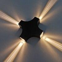 Luzes de parede de alumínio à prova dwaterproof água led 4 w 12 projeto ao ar livre iluminação decorativa lâmpada de parede 110 v 220 v casa luz do corredor de parede
