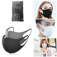 3 pc algodão dustproof máscara facial unisex estilo coreano ciclismo ao ar livre anti poeira algodão capa protetora máscaras reutilizáveis Máscara facial p/ ciclismo     -