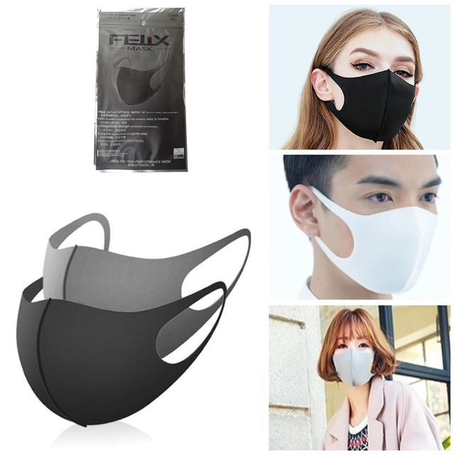 3PC Cotton Dustproof Face Mask Unisex Outdoor Cycling Walking Hiking Anti-Dust Skin-friend Cotton Protective Cover Reusable Mask
