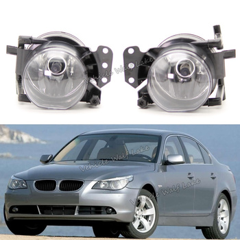 Car Light For BMW 5 Series E60 E61 2003 2004 2005 2006 2007 Car-styling Front Halogen Fog Light Fog Lamp With Halogen Bulbs image
