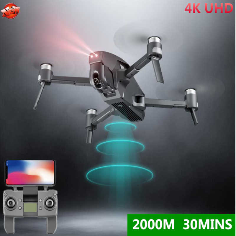 Brushless 5G Wifi FPV GPS RC Drone 30 Menit 4K HD Wide Angle 2KM Jarak Brushless drone 30 Menit Waktu Penerbangan RC Quadcopter