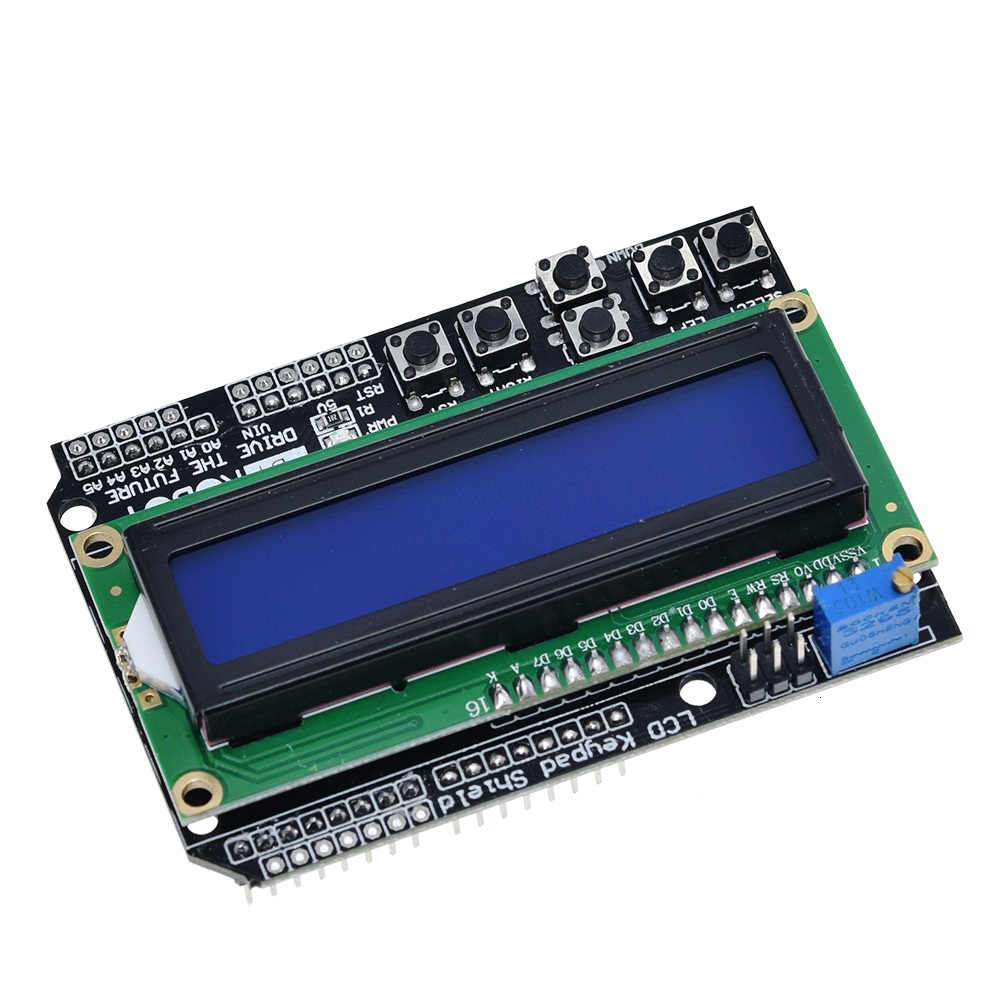 LCD Keypad Shield LCD1602 LCD 1602 Module Display For Arduino ATMEGA328 ATMEGA2560 raspberry pi UNO blue screen