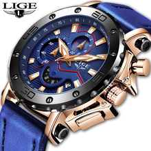 LIGE Luxury Brand Men Analog Leather Sports Watches Mens Army Military Wrist Watch Male Date Quartz Clock Relogio Masculino 2019 2016 top brand luxury analog men military sports watches mens quartz leather date clock man casual wrist watch relogio masculino