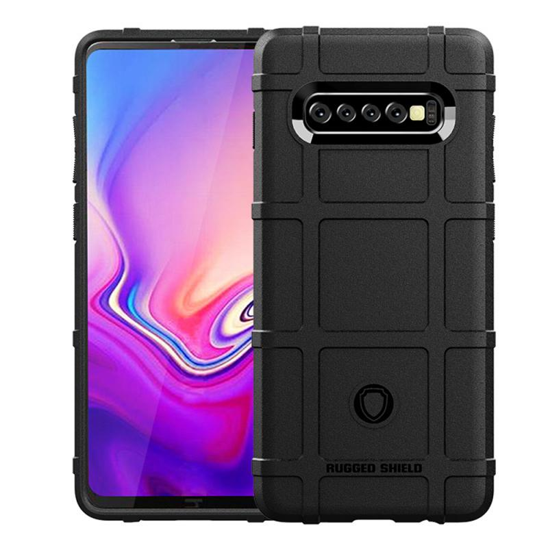 For Samsung Galaxy S10 Plus Shatter-Resistant Silicone Case Drop Resistant Cover Soft Anti-Fall Protection Shell