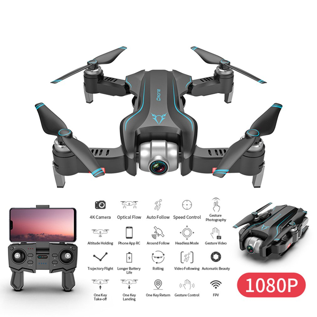 S20W Drone with camera HD 1080P 4K Camera WIFI GPS RC Quadcopter Follow Me Four-axis Rc Helicopter Flight Mode Drone with camera