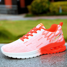 Large size womens shoes ultra light sports leisure air cushion running fly woven for women