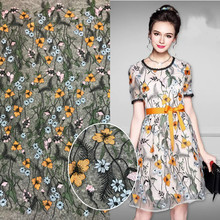 Embroidered mesh bottom Fashion lace embroidered fabric Spring and summer fashion womens dress accessories Factory