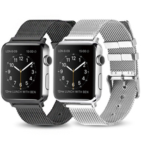 Milanese loop bransoletka ze stali nierdzewnej stalowy pasek do zegarka Apple series 2 3 42mm 38mm bransoletka pasek do zegarka iwatch seria 4 5 40mm 44mm