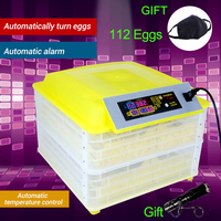 112 Egg Digital Egg Incubator Machine Automatic Hatchery Clear Turning Temperature Control Farm Chicken Egg Incubator Controller