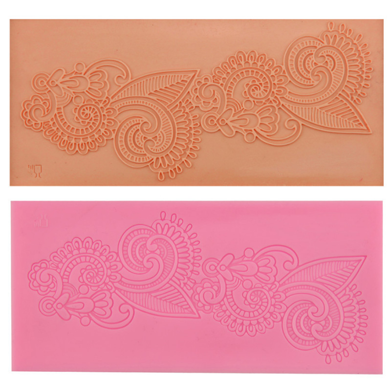 Baking Accessories Lace Flower Pattern 1Pcs Sugarcraft Non-toxic Food Grade Cake Border Decorating Tools  Fondant Cake Mold