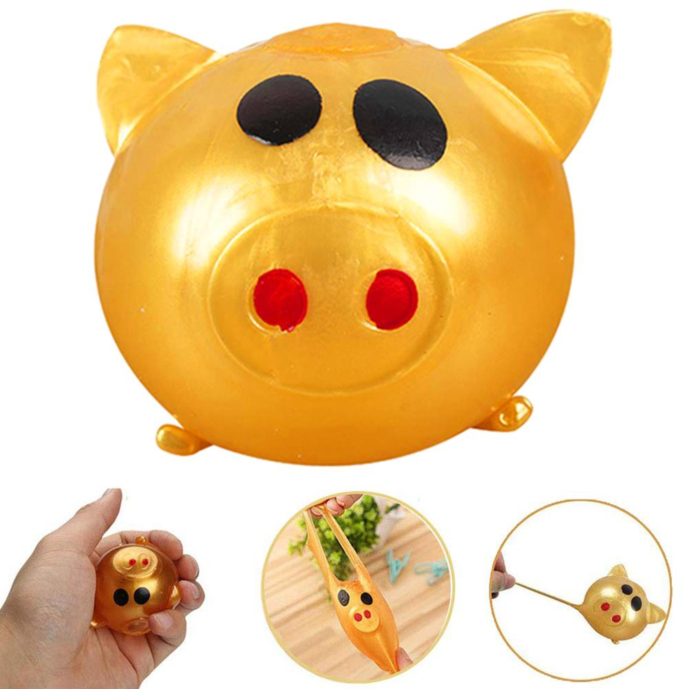 4/8Pcs Pig Shaped Anti Stress Reliever Squeezes Ball Funny Play Kids Adult Toy Intelligence Developmental Early Learning Toys