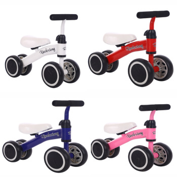 Baby Balance Bikes Bicycle Children Walker 10-36 Months No Pedal Balance Car Infant 4 Wheels Toddler Riding Toys For Kids Baby