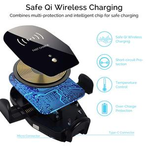 Image 4 - Auto Clamping 10W Qi Fast Wireless Car Charger for Blackview BV9900 BV9800 BV9700 BV9600 BV5800 BV9600 Plus BV6800 Pro Holder
