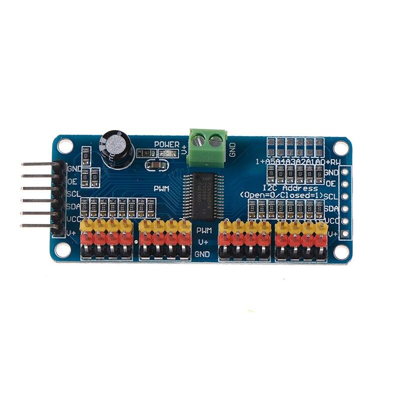 PCA9685 16 Ch 12-bit PWM Servo Shield Motor Driver I2C Module