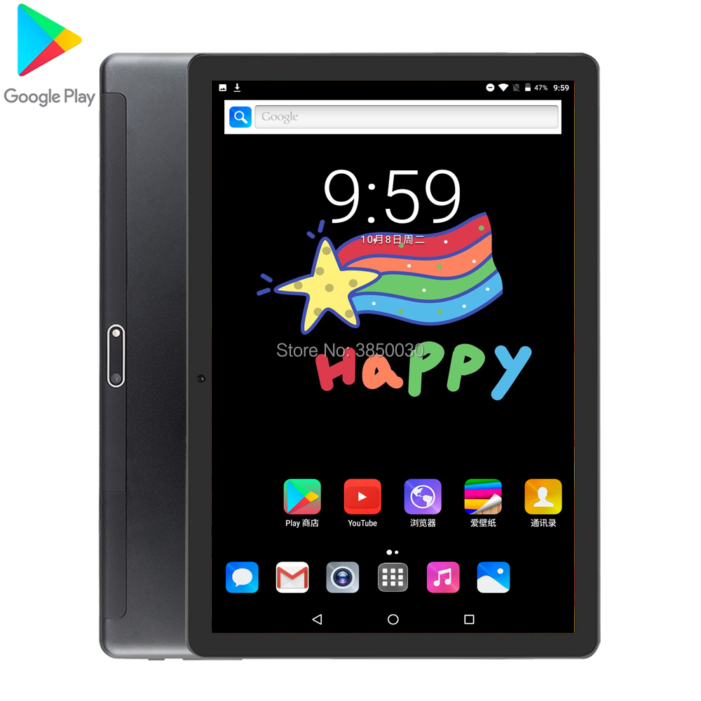 Free Shipping Google Android 9.0  10 Inch Tablet 3G Phone Call 32GB ROM 1280*800 IPS WIFI Tablets 10 10.1 Youtube GPS Pad