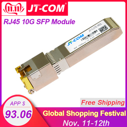 O módulo 10gbase-tx do transceptor de sfp do cobre de 10g rj45 ethernet gpon olt fibra ótica ftth compatível com cisco/interruptor de mikrotik 30m
